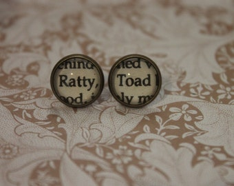 Ratty ~ Toad Earrings ~ The Wind In The Willows ~ Kenneth Grahame