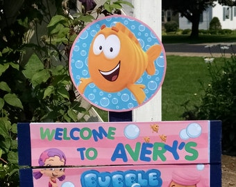 Bubble Guppies Birthday Yard Sign