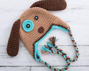 puppy hat crochet puppy hat little boy puppy hat toddler puppy hat newborn photo prop newborn puppy hat baby boy puppy hat