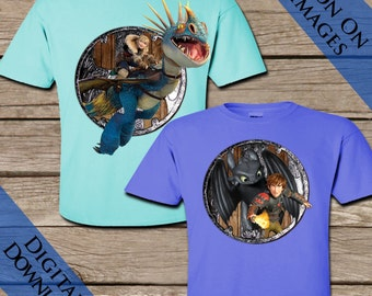 2 How To Train Your Dragon Tshirt Transfers! Digital Download! HTTYD Iron On Tshirt images!