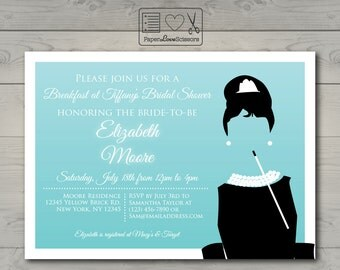 Printable Breakfast at Tiffany's Invitation | Bridal Shower | Baby Shower | Birthday Party | DIY