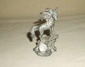 """Free Shipping SPOONTIQUES Pewter UNICORN With Crystal Ball CMR866 2 3/4"""" Tall"""