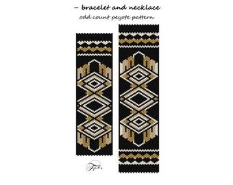 peyote pattern beadwork Aztec montezuma peyote bracelet
