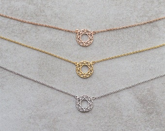 Geometric Circle Necklace