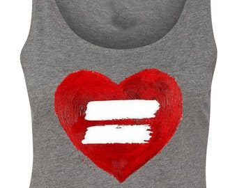 Equality Heart for Equal Love and Marriage Crop Top