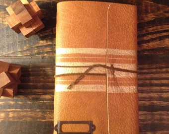 Leather Journal. Refillable Notebook. Travel Journal. Gifts under 35.