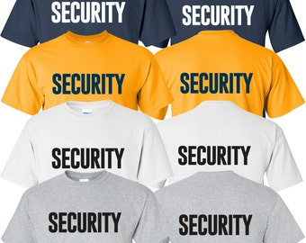 """New """"Security"""" T-Shirt Printed Front & Back 