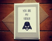Funny dad birthday card, funny greeting card, dad birthday gift, you are my father