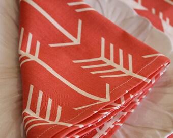 Coral Arrows Napkin