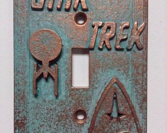 Star Trek Stone or Copper/Patina Light Switch Cover (Custom)