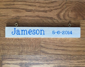 Add Ons     Grandkids names and birthdate sign