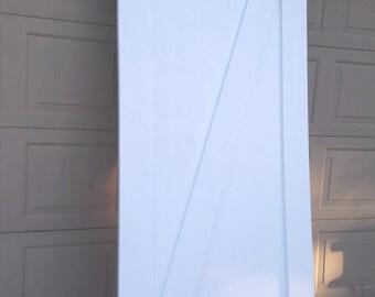 White Z Pattern Sliding Barn Door