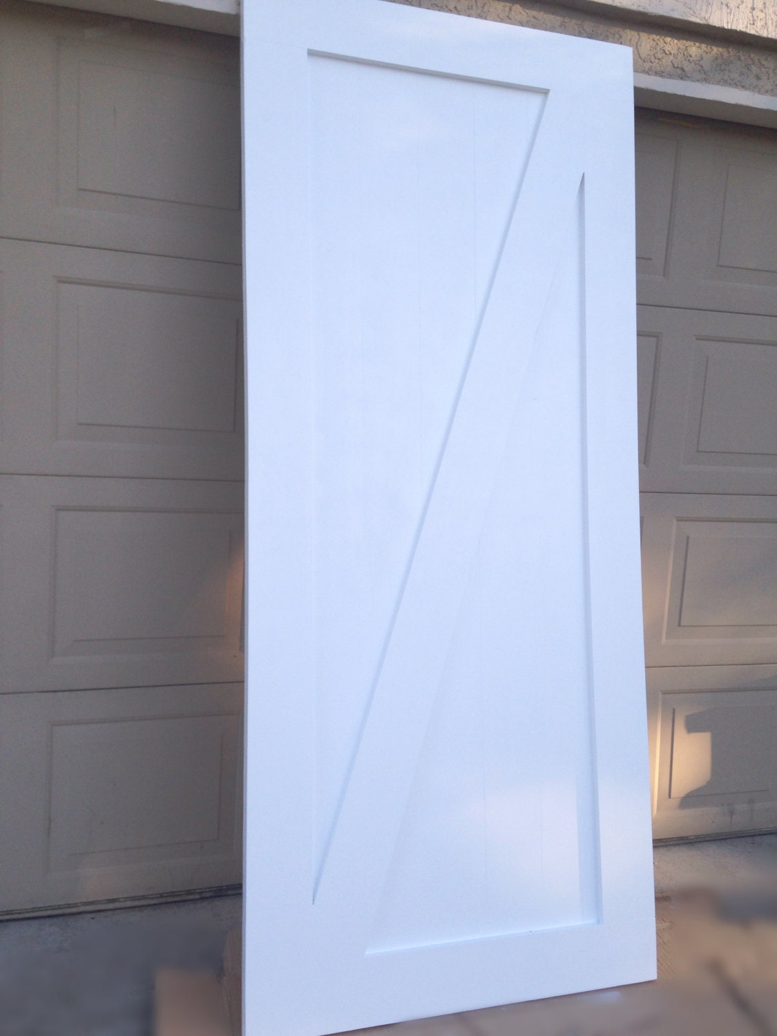 white z pattern sliding barn door