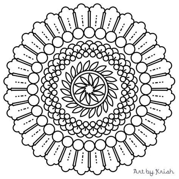 intricate mandala coloring pages free - photo#17