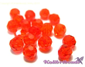 10x Swarovski 5000 Faceted Round Beads 6mm - Hyacinth - Genuine Austrian Crystal