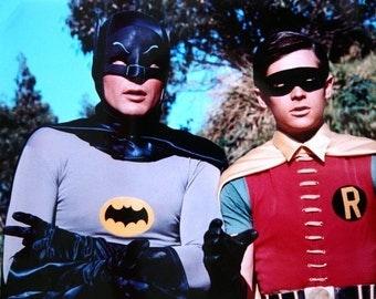Poster  Batman  and Robin  Adam West 16 x 20