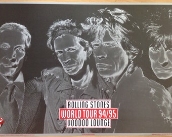 The Rolling Stones Voodoo Lounge World Tour 94/95 Poster  23 1/2 x 32 1/2