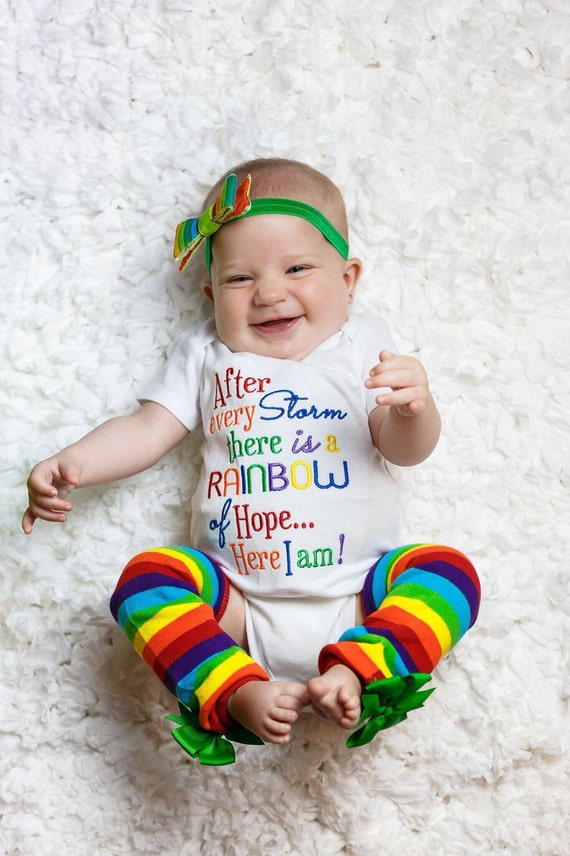 Rainbow Of Hope Bodysuit & Leg Warmers
