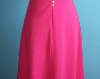 bubble gum pink vintage maxi dress size 12