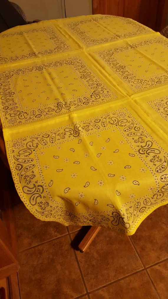 Items similar to bandana table cloth fits 6 39 picnic table for Transmutation table 85 items