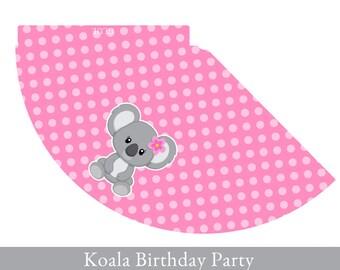 Koala Party Hat, Birthday Hat printable, Party Hat Printable, Koala Party Printable, Koala Party Decorations