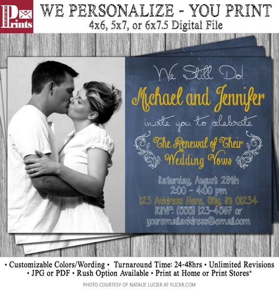 Vow Renewal Invitation Wedding Vow Renewal by
