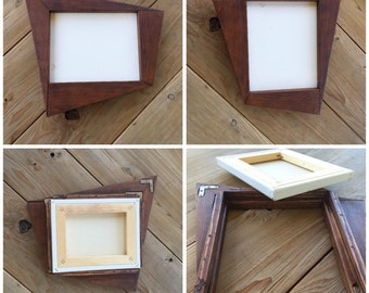 Retro 60's Style Wood Art Picture Carlo of Hollywood Inspired Artcraft Frame