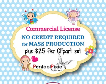 PentoolPixie Commercial use License - No Credit Required Mass Production