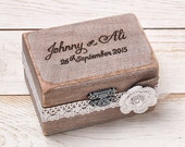 Rustic Wedding Ring Bearer Box Ring Box Custom Ring Box Wedding Ring Box Shabby Chic Wedding Box Personalized Ring Box Engagement Ring Box