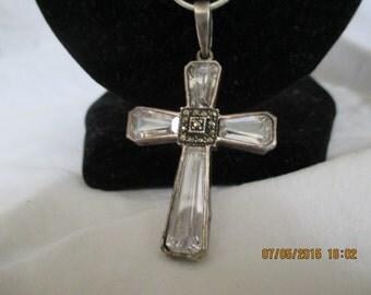 Sterling Silver Swaroski Cross Necklace