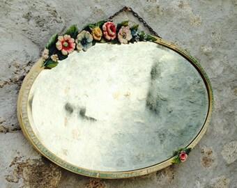 Decorative Floral Mirror     OIN000511