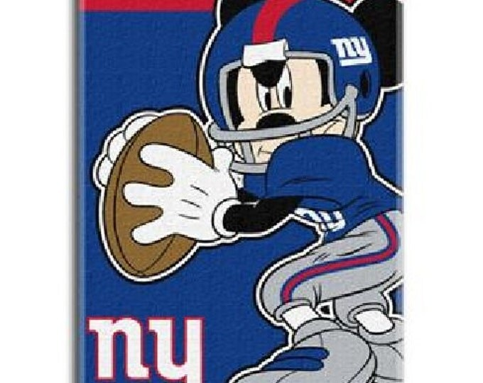 NFL Disney Quarterback Mickey Mouse New York GIANTS Beach Towel Personalized Beach Towel