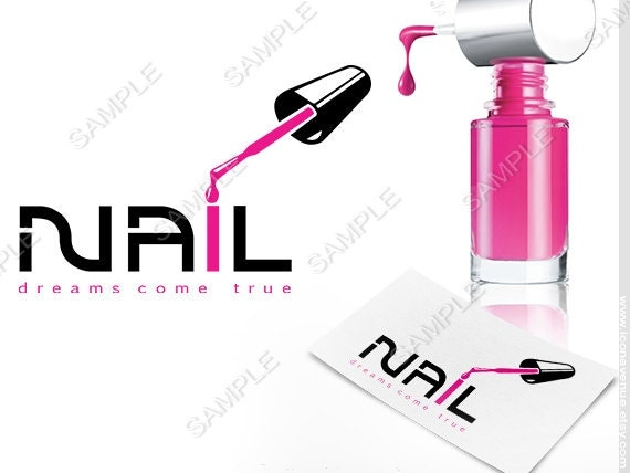 Nail Salon Logo Design Ideas lotus blossom icons and logos Premade Nail Salon Logo Nail Art Logo Nail Technician Logo
