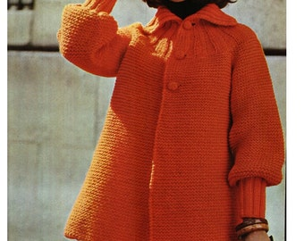 KNITTING JACKET PATTERN Vintage Pattern 70s Knitting sweater pattern cardigan pattern Instant Download