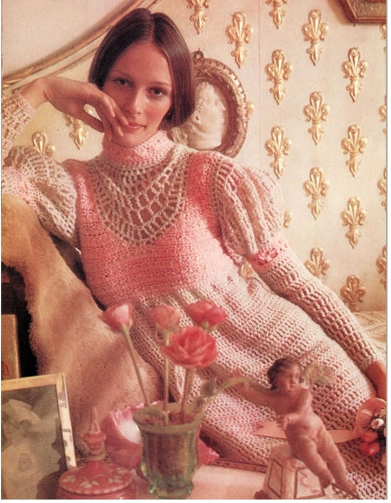 Items similar to Crochet Dress Pattern Vintage 70s Crochet ...