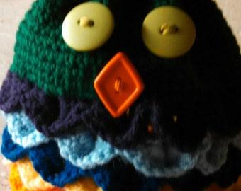 Rainbow owl pouch