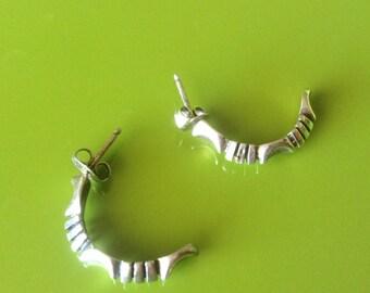 925 Hoop Southwest Earrings