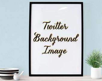 Custom Twitter Background Image // WordPress Add-on // Blogger Add-on - Blog Accessories