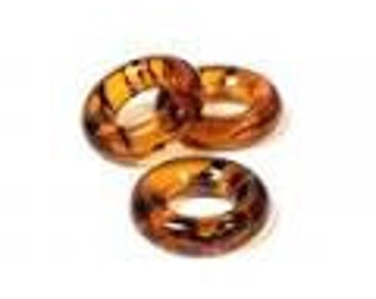 Czech Glass 9mm Ring - Tortoise Shell - Pack 25