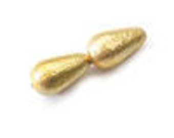EOL - Glass Ice Pearl Teardrop - 12x7mm - Gold Ice - Pack 25