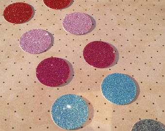 10 glitter dot die cuts