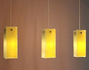 Fused glass pendant lights. Chandelier lighting hanging. Ceiling lights, pendant lighting, ceiling lighting. Small size pendants