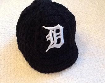 Detroit TIGERS Newborn Crochet Baseball Cap - Photographer Prop