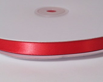 Single Face Satin Ribbon - Red - 100 Yards