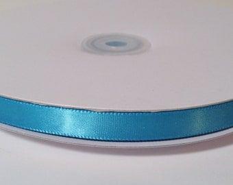 Single Face Satin Ribbon - Turquoise - 100 Yards
