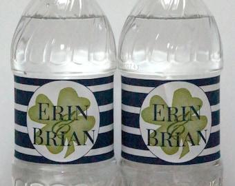 Custom Wedding Welcome Waterproof Water Bottle Labels