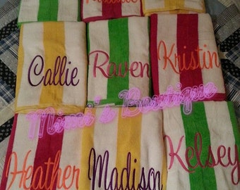 Monogrammed Beach Towels, Personalized Beach Towel, Beach towels, Limited time only