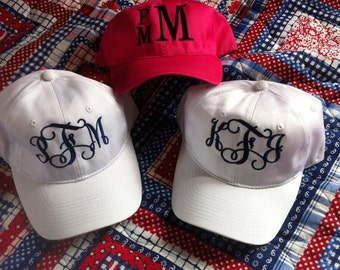 Monogrammed Womens Caps, Beach caps, Personalized caps