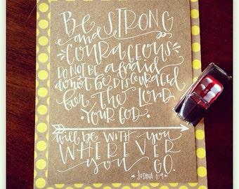 C U S T O M P R I N T - Joshua 1:9