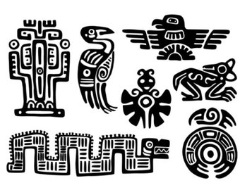 Maya Aztec Set - Temporary tattoos (Choose your fav)